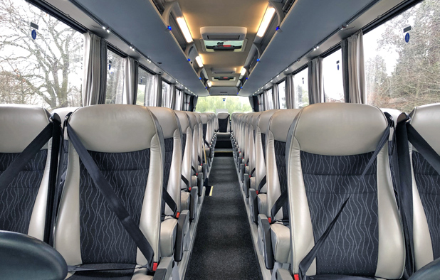 Interior seating of Setra