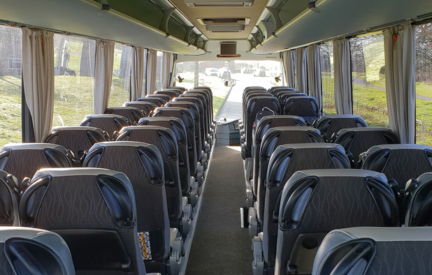 Interior seating from rear