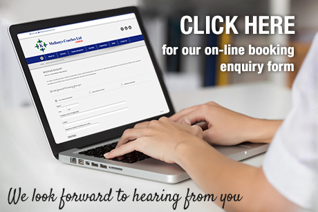 Click here for our on-line booking enquiry form